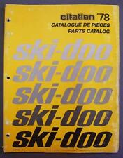 oRIG 1978 SKI-DOO CITATION SNOWMOBILE Parts Catalog English/French 480 1090 00