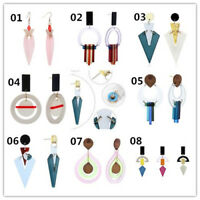 Stylish Acrylic Candy Color Geometry Rules Fashion Earrings for Women Party HotH