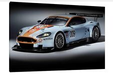 Aston Martin DBR9 GT3 - 30x20 Inch Canvas - Framed Picture Poster Print