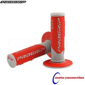 ProGrip 801 Honda CR CRF 85/125/150/250/450/500 Red/Grey Grips Motocross Enduro