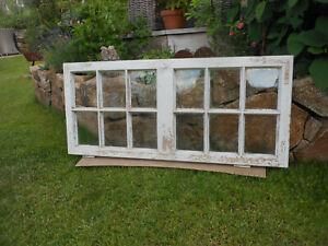 selten altes Fenster groß Flügel Holz Sprossen Deko Shabby
