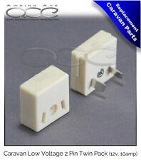 More details for 2 pin low voltage caravan plug & socket combinations 10amp 12v systems