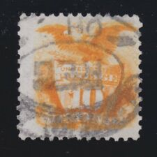US 127 1875 10c Re-Issue Used VF w/ OH Reg Cancel & PF Cert SCV $1800