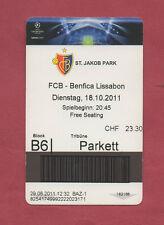 Orig.Ticket    Champions League  2011/12    FC BASEL - BENFICA LISSABON  !!