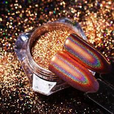 Peacock Holographic Chameleon Mirror Nail Art Powder Chrome Pigment Glitter Dust