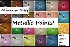 Rainbow Dust Edible Metallic Food Paint 25ml Pot Cake Decorating Finishing