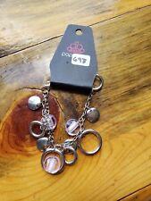 Paparazzi Bracelet (new)SILVER W/ LIGHT PINK BEADS 697