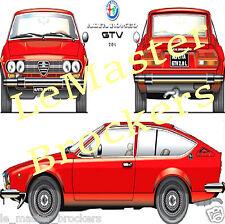 ALFA ROMEO Alfetta GTV 2.0 L Affiche fiche Poster voiture collection italienne