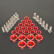 RED 21PC FULL DRESS UP SET/KIT WASHERS/BOLTS FOR HONDA RUCKUS ZOOMER