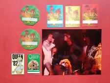 QUEEN,Color promo photo, 7 Rare Original backstage passes,Various Tours