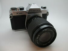 Asahi Pentax K1000 35mm SLR Film Camera Tokina 80-200mm Lens