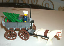 LEGO White Horse Carriage Minifigure Winter Village MOC 10216 10229 10235 10249