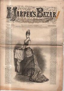 1876 Harper's Bazar December 9 - Holstin work; Boys and Ladies riding suits