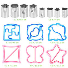 16PCS Sandwich Cookie Cutters Star Animal Shapes Vegetable Crust Cutter Mold Set