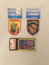 NOS Lot Of 3 Vintage State And City Patches, Arizona ~Oklahoma~St. Louis