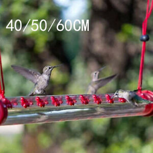 40/50/60CM Hummingbird Feeder With Hole Birds Feeding Transparent Pipe Outdoor