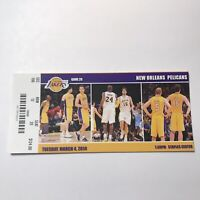 Los Angeles Lakers New Orleans Pelicans NBA Basketball Game Ticket Stub 2014
