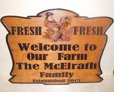 Personalized-Custom-Wood-Sign-WELCOME TO OUR FARM - ANY TEXT Engraved Gift.