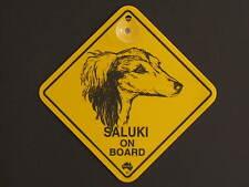 Saluki On Board Dog Breed Yellow Car Swing Sign Gift