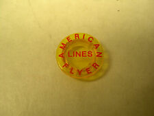 Drumhead for American Flyer 663 and 963 Observation Cars - Red Lettering