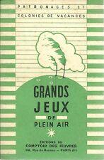 GRANDS JEUX DE PLEIN AIR - PATRONAGES ET COLONIES DE VACANCES - 1950
