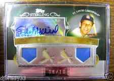 Stan Musial 2007 Topps Sterling  6/10  Autographed Quad Game Used Card 1/1