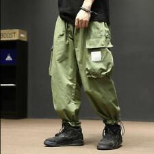 Sweet Summer Japanese Vintage Youth Army Green Loose Overalls Men's Casual Pants