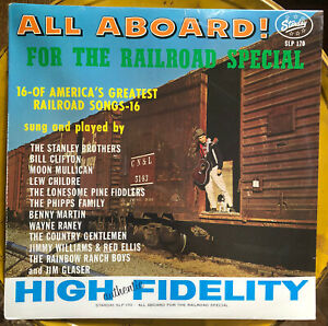 Train Songs All Aboard The Railroad Special Lp Record SEALED Bluegrass