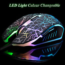 Ares M3 7 Color Cracking LED Adjustable DPI With USB Wired Gaming Optical Mouse