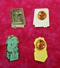 Cthulhu pin badges - Lovecraft, Miskatonic, statue, book