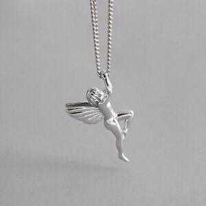 Collier pendentif ange exquis pour femmes de vrais bijoux en argent sterling 925