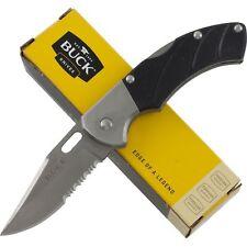 Buck Talus Black Textured G10 Handle Lockback Pocket Knife BU316 Folding Blade