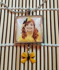 """Emma from """"The Wiggles"""" Children's Show Pendant Necklace w/ hand painted charm"""