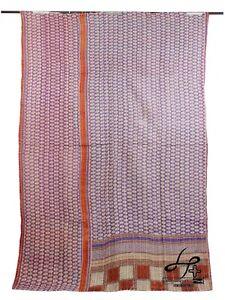 Cotton Kantha Quilt Handmade Blanket Single Size Gudari Indian Ralli Hobo Throw