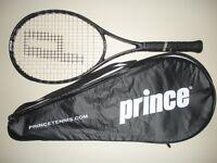 PRINCE EXO3 BLACK MP 100 TENNIS RACQUET 4 1/2 (NEW STRINGS)