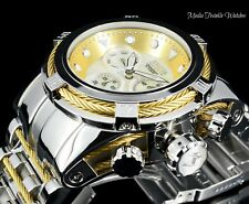 Invicta 52MM Bolt ZEUS MOP Dial Swiss Quartz Gold & Silver Mirror Polished Watch