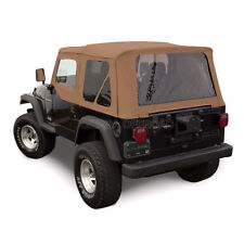 Jeep Wrangler TJ Soft Top, 97-02, Upper Doors, Tinted Windows, Saddle Sailcloth