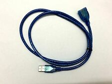 NEW Blue 3ft 1M USB 2.0 A Male to A Female Extension Extender Cable