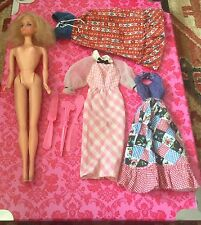 Vintage TNT quick curl Barbie Taiwan and outfits 70's