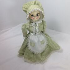 Doorstop Mid Century Kitsch Doll Weighted Country Grandma Vintage Handmade