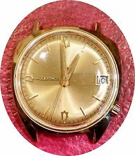 VINTAGE BULOVA ACCUTRON 14K SOLID GOLD MODEL 218 WRISTWATCH - SOLID GOLD CASE