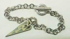 """Sterling Silver Italy PIANEGONDA Toggle Enamel Link Bracelet 7.25"""" Designer"""