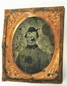 Civil War,  daguerreotype, Civil War soldier & inscription on back