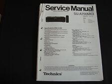Original Service Manual Technics Amplifier  SU-A700MK3