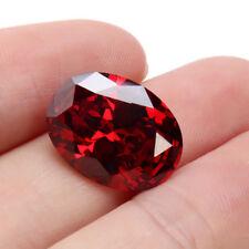13.89CT PIGEON BLOOD RED RUBY UNHEATED 12X16MM DIAMOND OVAL CUT LOOSE GEMSTONE