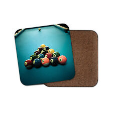 1 x Boules de billard Billard verre Coaster-Cuisine étudiant Qualité Cadeau #8271