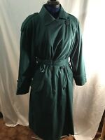 Womens' London Fog Towne trench coat, Turquoise, zip in lining,  Size 10