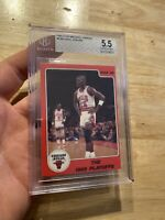 Michael Jordan Rookie BGS 5.5 Star 1986 LAST DANCE #8 Chicago Collector Card NR