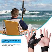 Fingerlose Handschuhe mit Licht für dunkle Orte, LED-Taschenlampe, Camping-