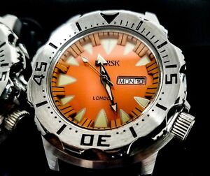 Sea Monster Watch, Norsk (medal winners, Norway) Diver, Citizen Movement orange